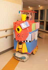 Levine Children's Hospital train from Pharmacy Department