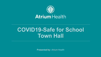 COVID Safe for School Town Hall