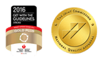 American Heart Association 2013 gold plus award and The Joint Commission gold seal of approval