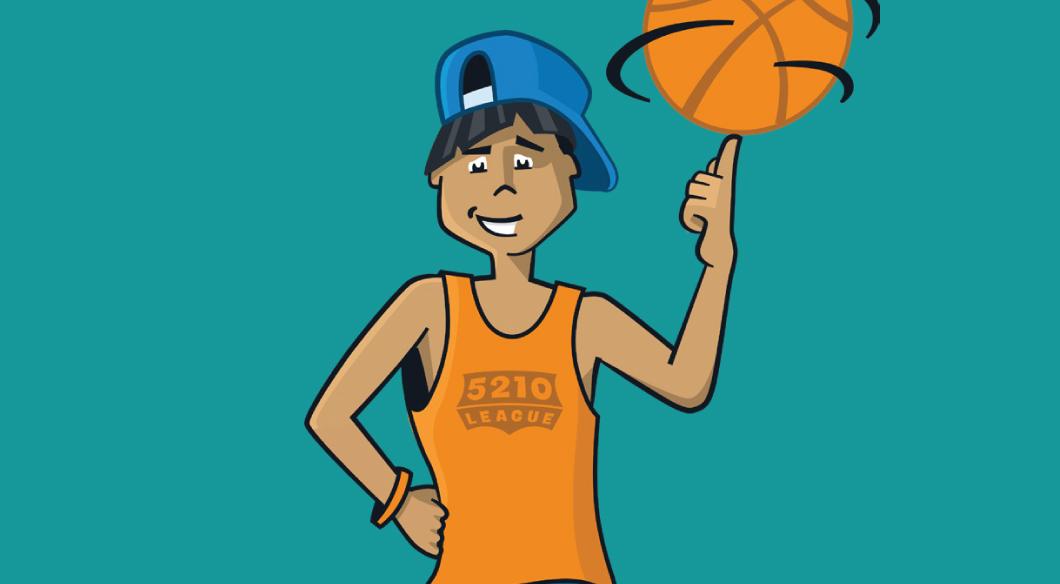 5210 League Kids Coloring Page