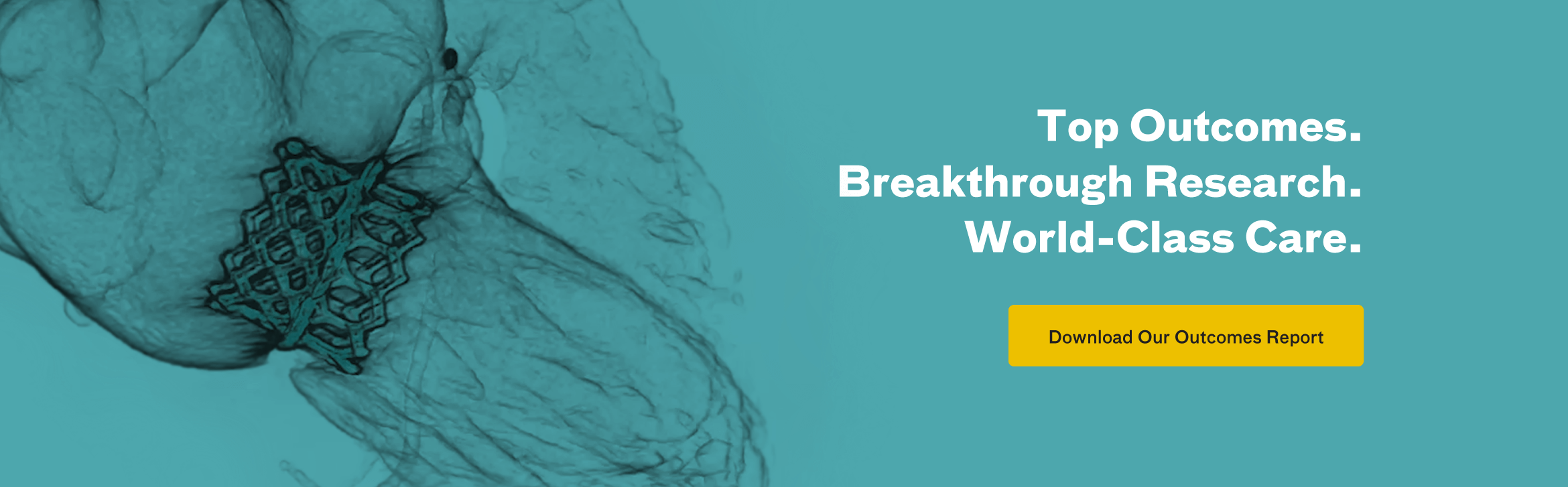 Top Outcomes. Breakthrough Research. World-class Care. Download Our Outcomes Report.