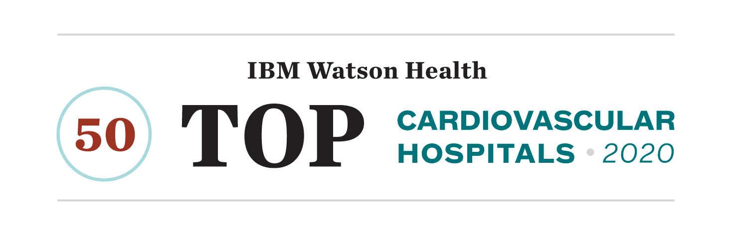 IBM Watson Health 50 top cardiovascular hospitals 2020.