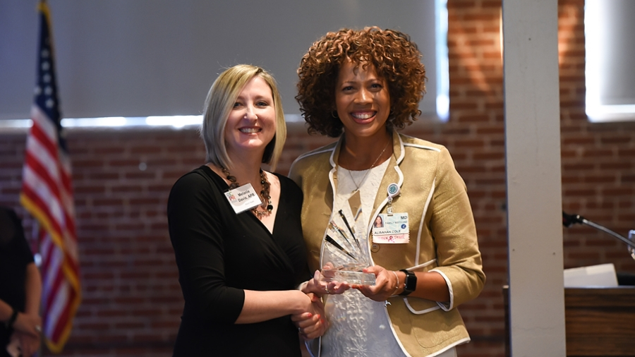Alisahah Cole, MD, chief community impact officer at Atrium Health, has been honored with Public Relation Society of America's Charlotte chapter Pegasus Award.