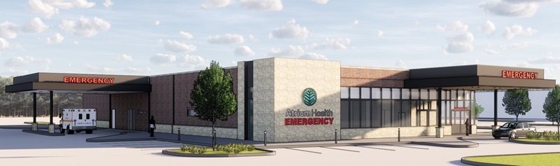 In order to bring high quality, convenient access to emergency care for the residents of northwestern Mecklenburg County, Atrium Health is breaking ground on a brand-new, freestanding emergency medical facility. Atrium Health Mountain Island Emergency Department will be conveniently located in Mountain Island, directly off Highway 16 and near I-485 in northwestern Mecklenburg County.