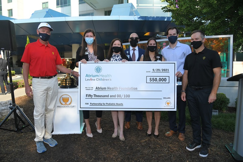 Presidents Cup donation to Levine Children's Hospital