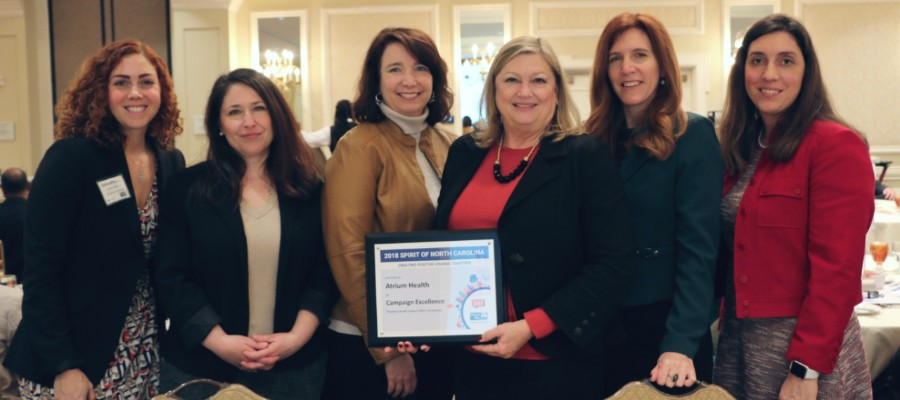 The Spirit of North Carolina Award recognizes businesses and organizations, like Atrium Health, leading their communities in embracing a united spirit of giving and volunteering.