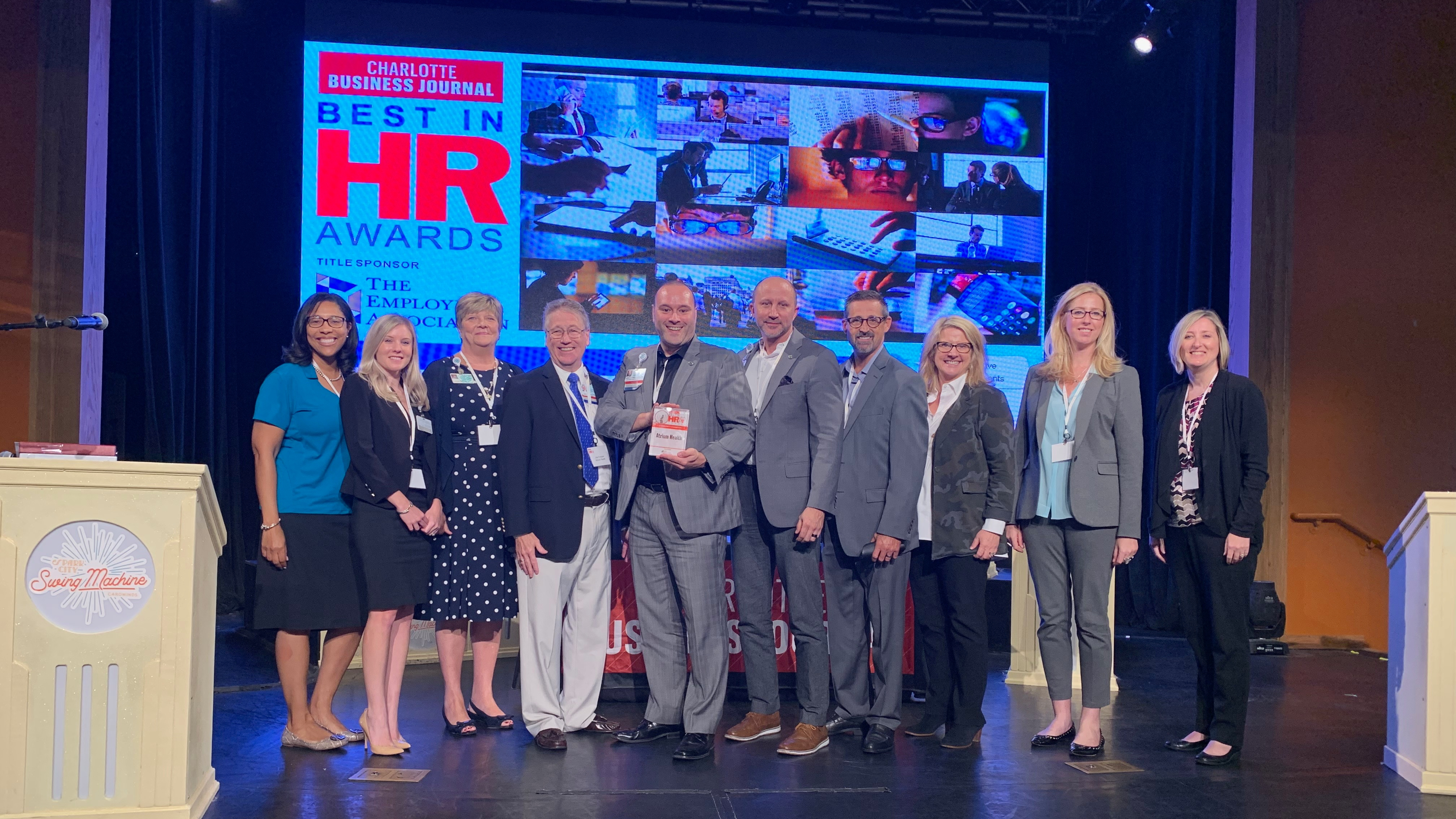 Atrium Health was recognized at the Charlotte Business Journal's Inaugural Best in HR Awards as the 2019 Community Champion for its commitment to improving economic mobility and health in the Charlotte community.