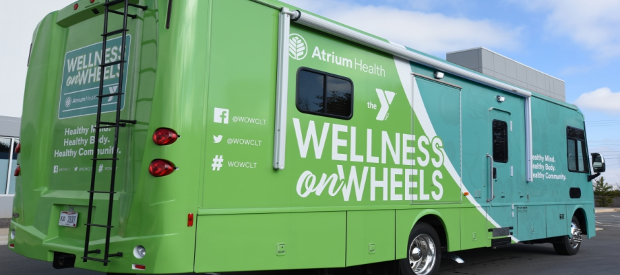 Wellness on Wheels mobile health unit will serve the greater Charlotte community to provide convenient access to care, nutrition education and lifestyle management programs.