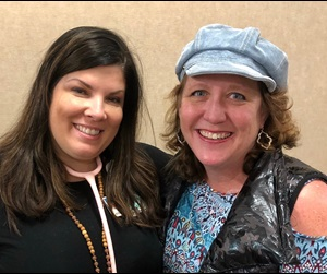 Cancer patient, Amanda Edwards, with Dr. Ashley Sumrall