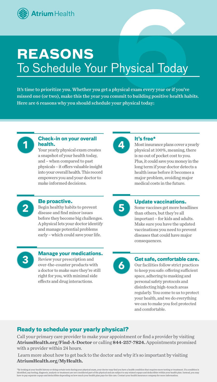 6 reasons to schedule your primary care physical today