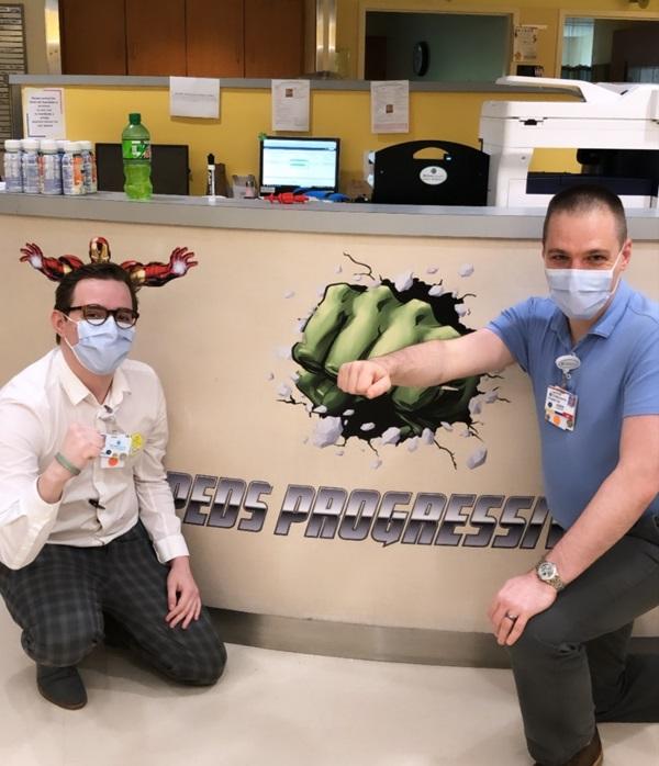 Progressive unit teammate highlight: Staff assistant Matt and nurse manager Jason.