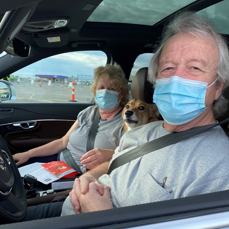 Elizabeth and Walter Shields received their first dose of the COVID-19 vaccine at Charlotte Motor Speedway at its first mass vaccination event