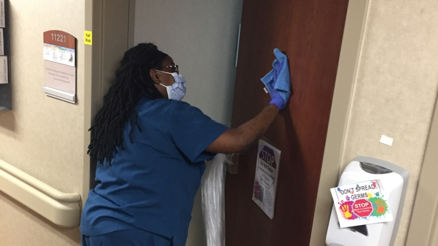 Environmental services technicians take extra precautions to keep our facilities as clean and sanitized as possible