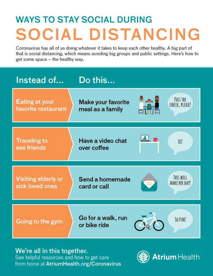 How to adhere to social distancing during coronavirus outbreak