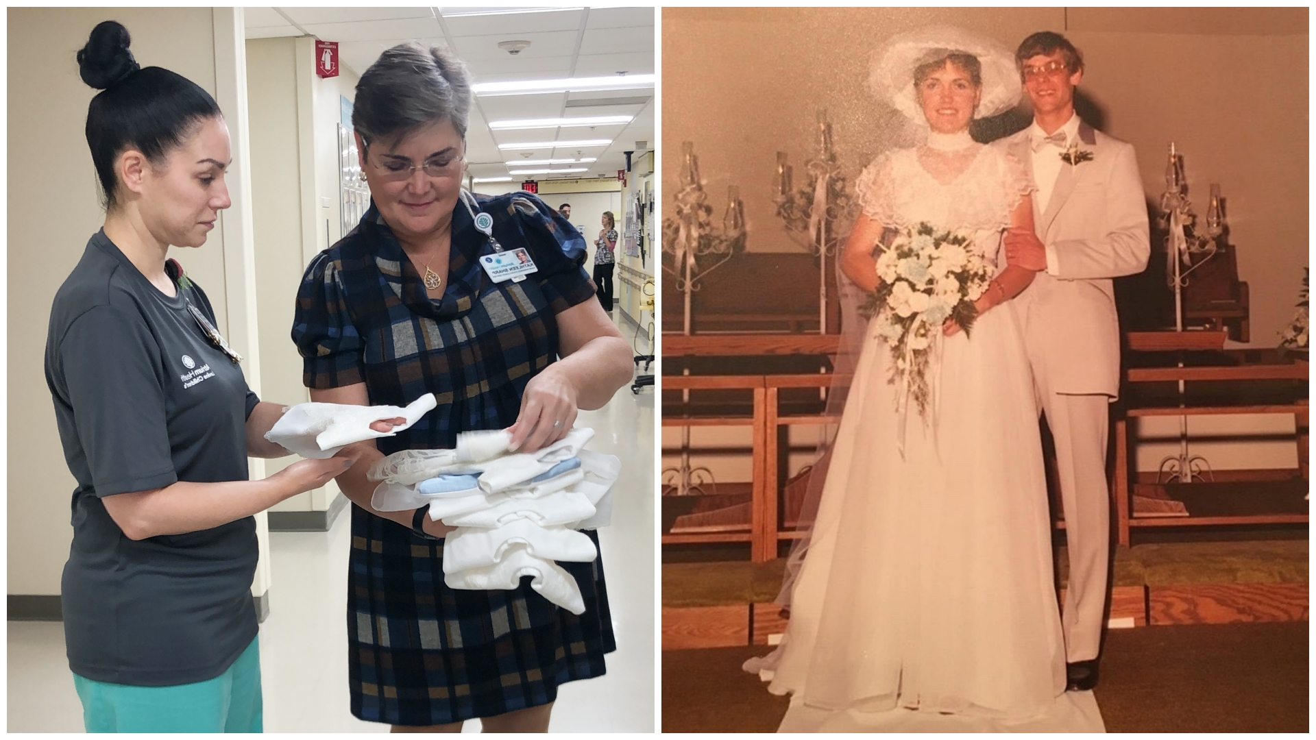 Kathleen Sharp's personal experience with loss inspired her to give back to the Levine Children's Hospital community. Her wedding gown now serves an incredible purpose for the families of infants who don't make it home from the hospital.
