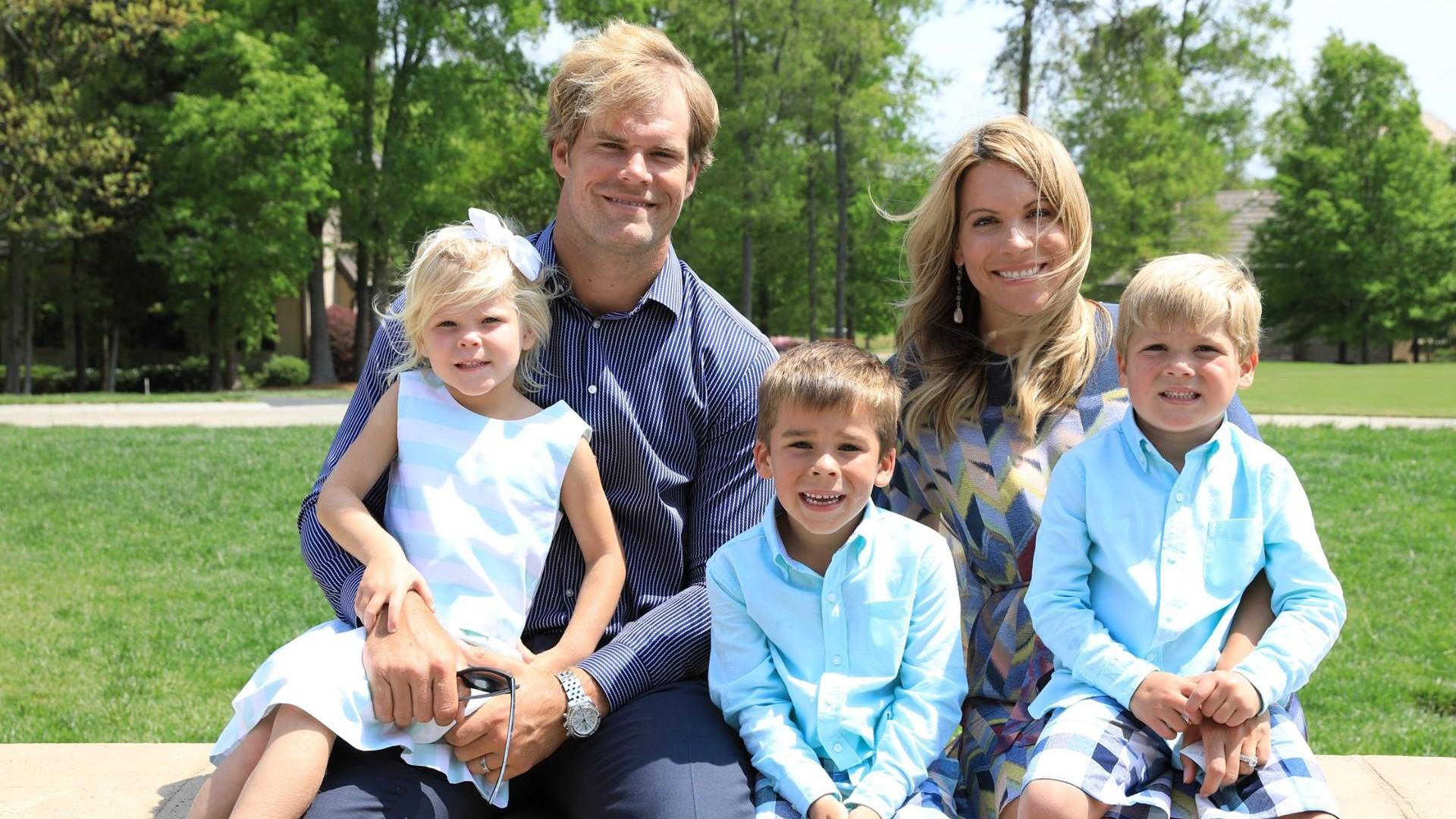 Kara and Greg Olsen with their three children.