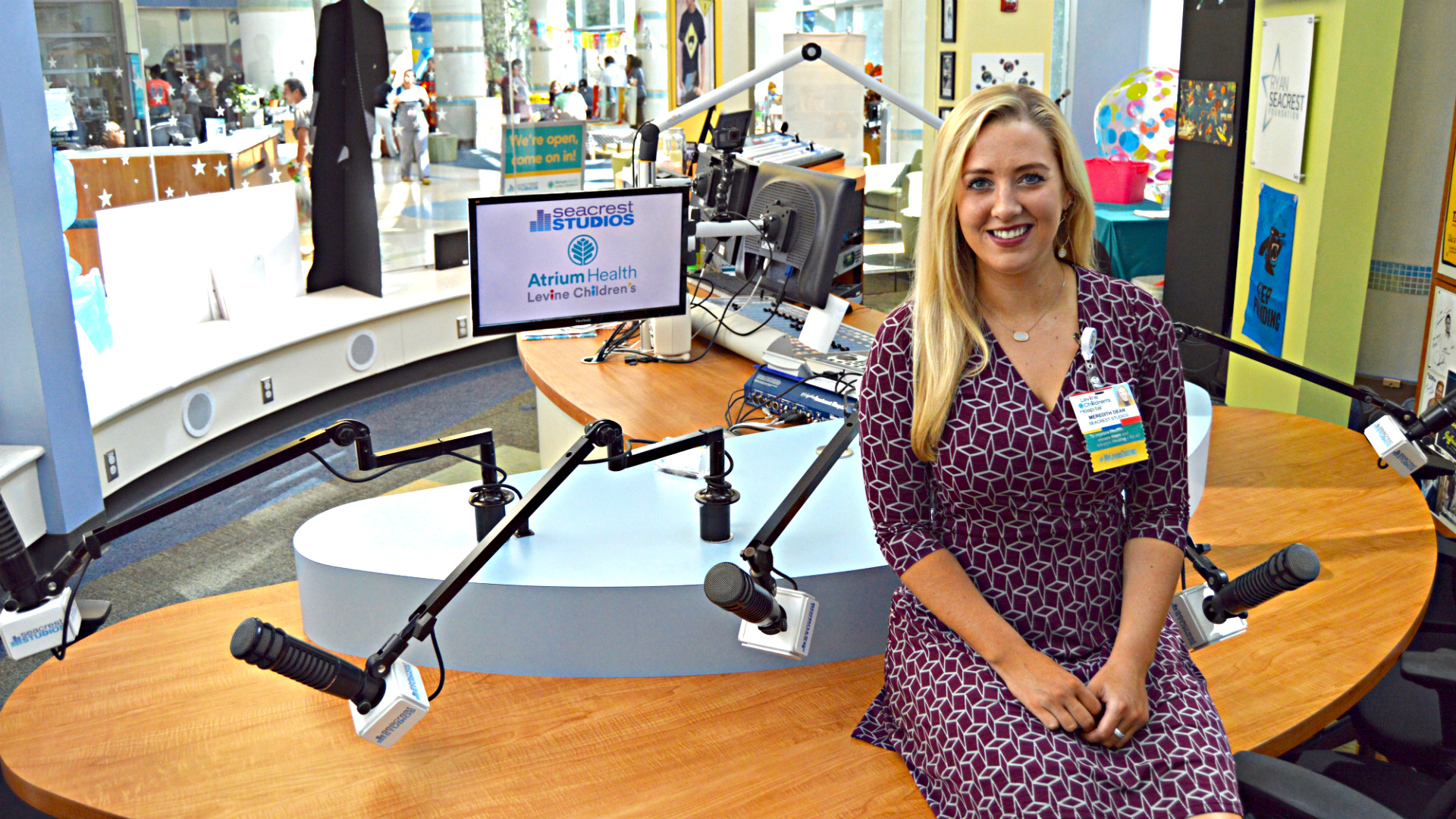 Kristin Babb, BSN, RN, a NICU nurse at Levine Children's, and Meredith Dean, the program coordinator at Seacrest Studios, share the ways they've seen music help their young patients.