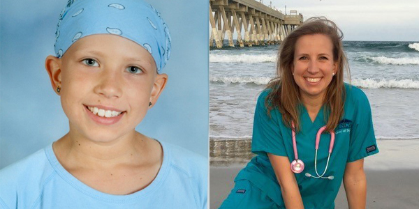 Sarah Sadler (Fruendt), once a patient at Levine Children's Hospital, is now a nurse in the same unit where she was treated, and even works alongside some of the same nurses who provided her care.
